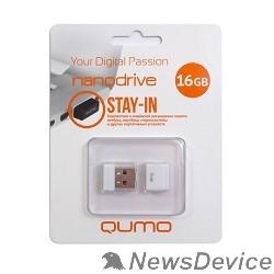 Носитель информации USB 2.0 QUMO 16GB NANO QM16GUD-NANO-W White