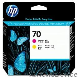 Расходные материалы HP C9406A Печат.Головка №70 Пурпурная и жёлтая