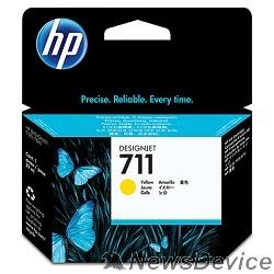 Расходные материалы HP CZ132A Картридж №711, Yellow Designjet T120/T520, Yellow (29ml)