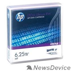 Сетевые системы хранения данных HPE C7976A, LTO-6 Ultrium 6.25TB RW Data Tape