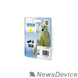 Расходные материалы EPSON C13T26344010/4012 Картридж Epson XP-600, XP-605, XP-700, XP-800, Желтый. 26XL YE (cons ink)