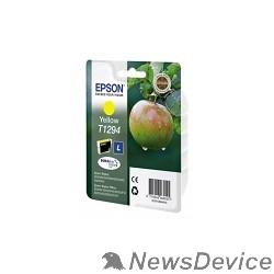 Расходные материалы EPSON C13T12944011/4010/4012  Картридж для SX420W, SX425W,  SX525WD,  SX620FW, BX305F,  BX305FW,  BX320FW,  BX525WD,  BX625FWD,  желтый, L (cons ink)