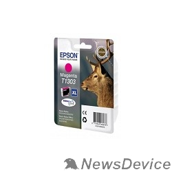 Расходные материалы EPSON C13T13034010/4012  T1303 Картридж для Epson Stylus SX525WD/ SX620FW, Stylus Office BX320FW/BX525WD/ BX625FWD, пурпурный, XL (cons ink)