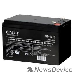 батареи Ginzzu Батарея GB-1270 свинцово-кислотный, необслуживаемый, технология AGM, 12В / 7Ач, клемма 5/7мм