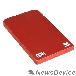 "Контейнер для HDD AgeStar SUB2O1 (RED) Внешний корпус 2,5"" SATA AgeStar SUB2O1 (RED) USB2.0, алюминий, красный (04513)"