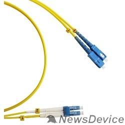 Патч-корд Hyperline FC-D2-9-LC/UR-SC/UR-H-3M-LSZH-YL Патч-корд волоконно-оптический (шнур) SM 9/125 (OS2), LC/UPC-SC/UPC, duplex, LSZH, 3 м