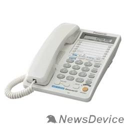Телефон Panasonic KX-TS2368RUW (белый) 2 линии, конференц-связь, спикер., 30 номеров памяти, ЖКД, Flash, часы