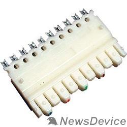 Монтажное оборудование Hyperline 110C-M-5P 5-и парный 110 модуль, категория 5e