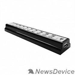 Контроллер CBR CH-310, USB-концентратор  активный, 10 портов, USB 2.0/220В black