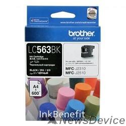 Расходные материалы Brother LC-563BK Картридж , BlackMFCJ2510/2310, Black, (600стр.)