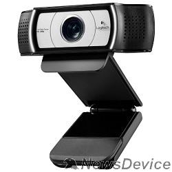 Цифровая камера 960-000972 Logitech Webcam C930e Full HD 1080p/30fps, автофокус, zoom 4x, угол обзора 90°, стереомикрофон, защитная шторка, кабель 1.83м