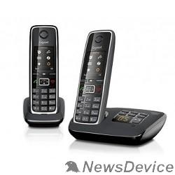 Телефон Gigaset C530A(M)  DUO черный ( 2 трубки с ЖК диспл., База,Заряд. устр-во) стандарт-DECT автооветчик