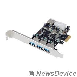 Контроллер ST-Lab U750 RTL Controller ST-Lab, PCI-E x1, U- 750, 3 ext (USB3.0) + 1 int (USB3.0), LP bracket, Ret