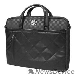 """Сумка для ноутбука Сумка Continent CC-036 Black полиэстр/эко кожа, 15.6""""-16"""",черный"""