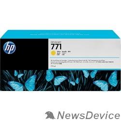 Расходные материалы HP B6Y10A Картридж №771, Yellow Designjet Z6200, Yellow (775ml)
