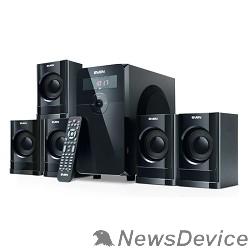 Колонки SVEN HT-200 черный 5.1, 5х 20Вт + 12Вт , FM-тюнер, USB/SD, дисплей, пульт ДУ