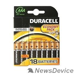 Батарейка DURACELL LR03-18BL BASIC AAA (18 шт. в уп-ке) - фото 515539