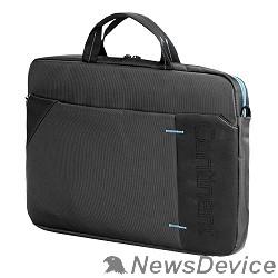 Сумка для ноутбука Сумка Continent  CC-205 GB(нейлон, серый, с голубой отстрочкой, 15,6'')
