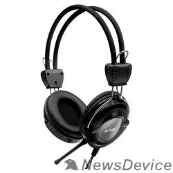 Наушники A4Tech HS-19-1, Grey/черный Гарнитура стерео, мониторного типа, динамик 40мм 20-20000Гц 32 Ом 102дБ, микрофон фикс 50дБ, амбешуры съемные, кабель 2m 3.5 jack 3pin
