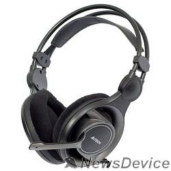 Наушники A4Tech HS-100, черные/серый Гарнитура, мониторные, 20 - 20000Гц, длина шнура 2м