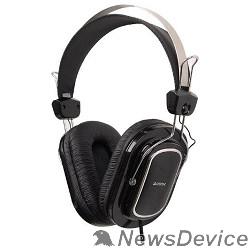 Наушники A4Tech HS-200,Black Гарнитура стерео, монитор типа, рег громкости на проводе, 20-20000Гц 32 Ом 111дБ, микр подвижной 58дБ, кабель 2, 3.5 jack 3 pin