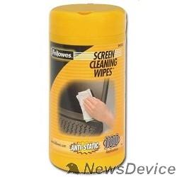 Чистящие средства Fellowes Туба с чистящими салфетками для экранов FS-99703, 100 шт.