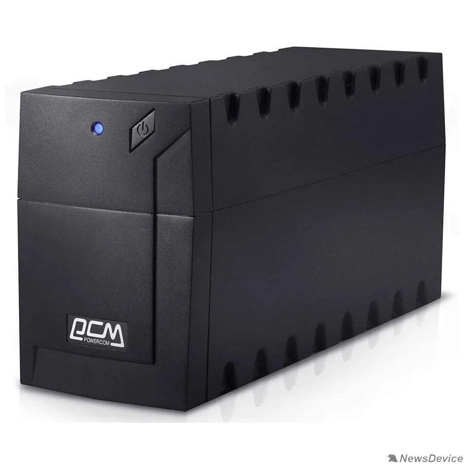 ИБП UPS PowerCom RPT-600AP 600 ВА/ 360 Вт, AVR, USB, RJ11/RJ45, 3 розетки IEC320 C13 с резервным питанием