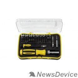 Ручной инструмент STAYER Набор: Отвертка реверсивная с эргономичной ручкой, с насадками, в пластмассовом боксе, 65 предметов 25310-H65