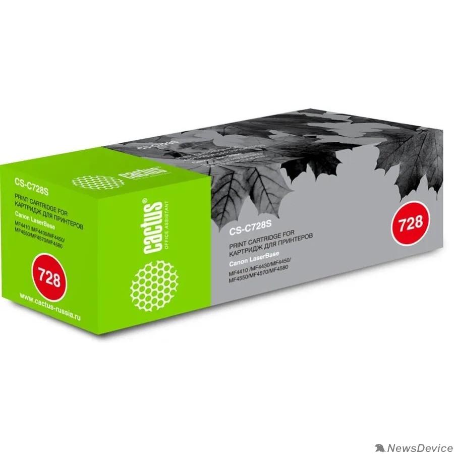 Расходные материалы CACTUS Cartridge 728S Картридж (CS-C728S) для Canon Laser Base MF4410/4430/4450/4550/4570/4580
