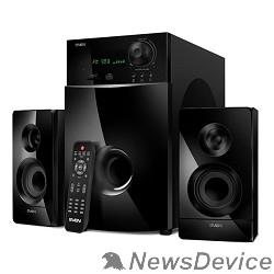 Колонки SVEN MS-2100, черный 2.1, 50Вт+2х15Вт, FM-тюнер, USB/SD, дисплей, ПДУ