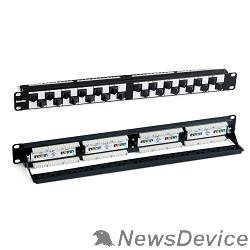 """Монтажное оборудование Hyperline PPHD-19-48-8P8C-C6-110D Патч-панель высокой плотности 19"""", 1U, 48 портов RJ-45, категория 6, Dual IDC"""