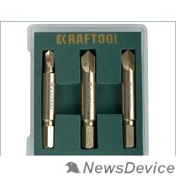 Отвертки-насадки (биты) Набор экстракторов KRAFTOOL для выкручивания крепежа с износом граней шлица до 95%.PH1/PZ1,PH2/PZ2,PH3/PZ3,3 предмета 26770-H3