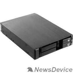 "Опция к серверу Procase T2-012-SATA3-BK Hot-swap корзина 2*2.5"" SATA3/SAS 6Gb (черный) hotswap trayless aluminium mobie rack module (1x3,5) 1xFAN 80x15mm"