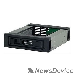 """Опция к серверу Procase T3-101-SATA3-BK Корзина с горячей заменой на 1 диск 3.5"""" SATA3/SAS 12Gb(черный) hotswap trayless aluminium mobile rack module (1x5,25-1xHDD)"""