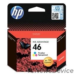 Расходные материалы HP CZ638AE Картридж №46, Color DJ2520/2020, Color