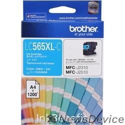 Расходные материалы Brother LC565XLC Картридж ,Cyan MFC-J2510/J2310, Cyan, (1200стр)
