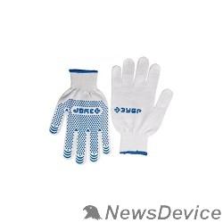 Перчатки ЗУБР Перчатки трикотажные, 12 класс, х/б, с защитой от скольжения, L-XL 11451-XL