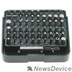 Отвертки-насадки (биты) KRAFTOOL Набор Биты с адаптером в пластиковом боксе, Cr-V, 61 предмет 26140-H61