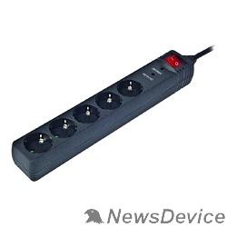 Сетевые фильтры Energenie Сетевой фильтр SPG5-C-15 4.5m 16А. черный (сечение 3*1,5 мм)
