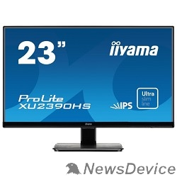 "Монитор IIYAMA 23"" XU2390HS-B1 черный AH-IPS LED 1920x1080 5ms 16:9 1000:1 250cd 178°/178° D-Sub DVI HDMI 2x2W"