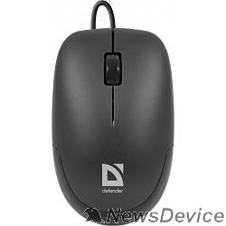 Мышь Defender Datum MM-010 Black USB 52010 2кн+кл,1000 dpi