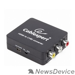 Разветвитель Cablexpert (DSC-HDMI-CVBS-001)  Конвертер HDMI -> RCA, Cablexpert, HD19Fx3RCA, HDMI -> 3xRCA (1x video, 2x audio)