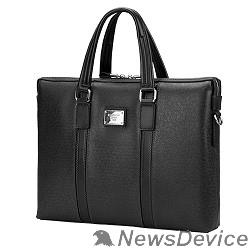 """Сумка для ноутбука Сумка Continent  CM-142 Black  полиэстр/эко кожа, черная 15.6"""""""