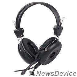 Наушники A4Tech HS-30, Black Гарнитура, накладные, 20-20000Гц,32 Ом, 102дБ, микр фиксирован,  кабель 2м, 2 x mini jack 3.5 mm