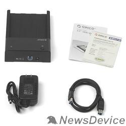 """Док-станции для HDD ORICO 6518US3-BK Док-станция для HDD ORICO 6518US3; 1-bay 3.5"""" HDD horizontal design (черный)"""