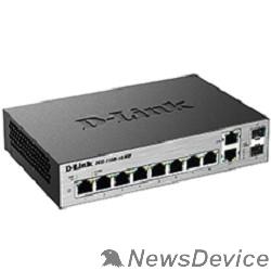 Сетевое оборудование D-Link DGS-1100-10/ME/A2A Настраиваемый коммутатор 2 уровня с 8 портами 10/100/1000Base-T и 2 комбо-портами 100/1000Base-T/SFP