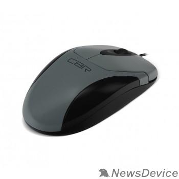 Мышь CBR CM-302 Grey USB, Мышь 1200dpi, бесшумное нажатие, провод 1.5 м.