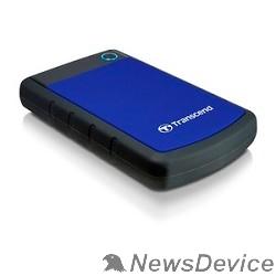 "Носитель информации Transcend Portable HDD 1Tb StoreJet TS1TSJ25H3B USB 3.0, 2.5"", blue"