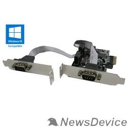 Контроллер ORIENT XWT-PE2SLP OEM PCI-Ex1, 2xCOM9M, Low Profile