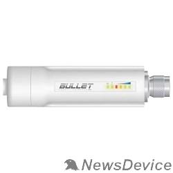 Сетевое оборудование UBIQUITI BulletM2-HP Ультракомпактная точка доступа Wi-Fi, AirMax, Рабочая частота 2.4ГГц, Выходная мощность 30 дБм